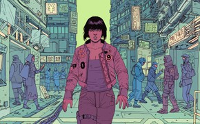 Picture Girl, Figure, The city, Girl, Japan, Fantasy, Ghost, Art, Art, Ghost in the shell, Robots, …