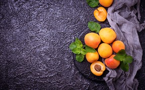Picture leaves, background, fabric, apricot