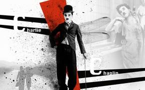 Picture art, actor, Chaplin, photo, Charli