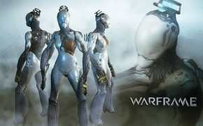 Picture being, soldiers, cyborg, character, Warframe