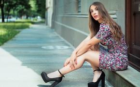 Picture summer, face, model, legs, Nicole