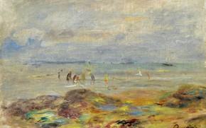 Picture landscape, picture, 1892, Pierre Auguste Renoir, Pierre Auguste Renoir, Catchers of Shrimps near Rocks