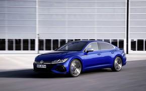 Picture blue, wall, Volkswagen, liftback, 2020, Arteon, Arteon R