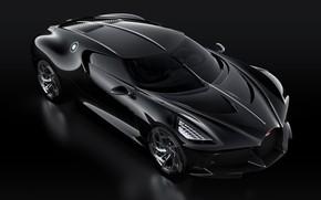Picture machine, black, lights, Bugatti, stylish, hypercar, The Black Car