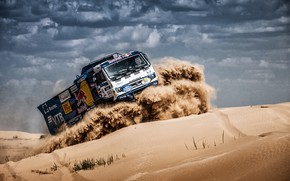 Picture Sand, Auto, Sport, Machine, Speed, Clouds, Truck, Race, Master, Russia, Race, Russia, Speed, Kamaz, Rally, …