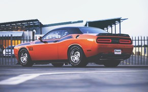 Picture Auto, Machine, Orange, Dodge, Challenger, Dodge Challenger, Muscle car, Rendering, Transport & Vehicles, by Timothy …