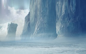 Picture Snow, People, Ice, Art, Art, Winter, Ice, Concept Art, Science Fiction, Col Price, Glaciers, Travelers, …