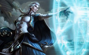 Picture Girl, WOW, Fantasy, Blizzard, Art, MAG, Beauty, Blonde, World of WarCraft, WarCraft, Illustration, Character, Jaina …