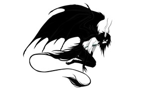 Picture wings, the demon, tail, horns, Bleach, Bleach, arancar, Ulquiorra Schiffer