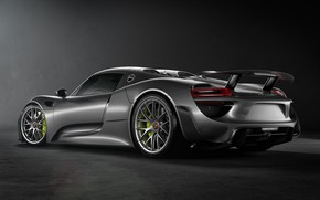Picture Auto, Machine, Grey, Car, Render, Spyder, 918, Rendering, Sports car, Porsche 918 Spyder, Grey, Transport …