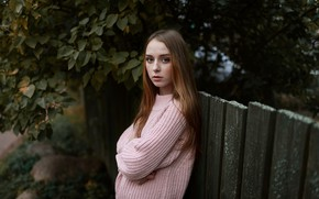 Picture tenderness, the fence, the beauty, sweater, Nikita Ivanov