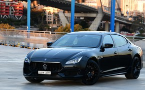 Picture Maserati, Quattroporte, the evening, 2018, GTS, AU-spec, GranSport, Nerissimo Edition