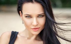 Wallpaper model, close-up, Denis Petrov, makeup, brunette, bokeh, hairstyle, beauty, Angelina Petrova, Angelina Petrova, look, portrait