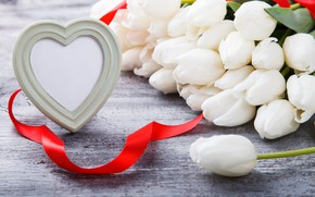 Picture love, holiday, heart, tulips