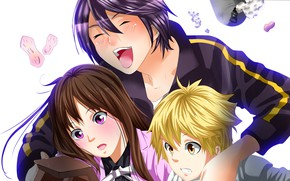 Picture art, A Homeless God, Noragami, Yato, Yukine, Chieri