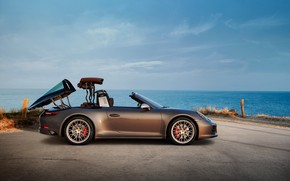 Picture Porsche, 4x4, transformation, Biturbo, Targa, special model, 911 Targa 4 GTS, Exclusive Manufaktur Edition
