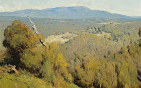 Picture picture, 1918, Penleigh Boyd, Penley Boyd, The landscape of the Yarra valley