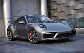 Picture Auto, 911, Porsche, Machine, Grey, Car, Auto, Render, Porsche 911, Rendering, Transport & Vehicles, by …