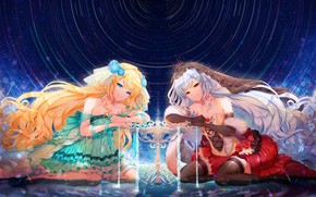Picture Water, Girls, Space, Table