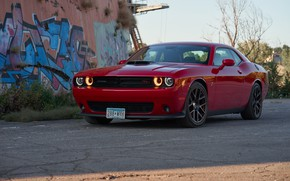 Picture red, design, Dodge Challenger