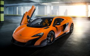 Picture McLaren, Orange, Door, Super Car, Sight