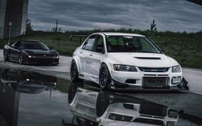 Picture Honda NSX, Mitsubishi Lancer Evolution, Honda NSX & Mitsubishi Lancer Evolution