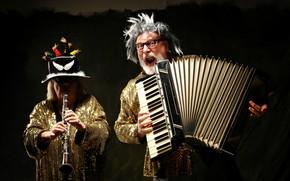 Wallpaper music, people, instrumento
