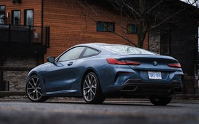 Picture coupe, BMW, 2018, the house, 8-Series, 2019, pale blue, M850i xDrive, Eight, G15