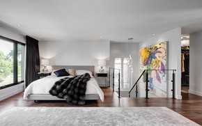 Picture room, interior, bedroom, Toronto, dormer housee, dormer residential