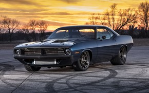 Picture Muscle, Plymouth, Cuda, Vehicle, Modified, Speedkore