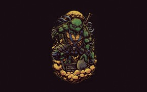 Picture Minimalism, Style, Background, Teenage mutant ninja turtles, Art, Style, TMNT, Leonardo, Leonardo, Teenage Mutant Ninja …