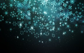 Picture snowflakes, background, holiday, bokeh, postcard, Christmas