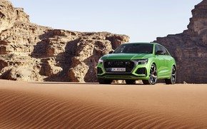 Picture Audi, desert, crossover, 2020, RS Q8