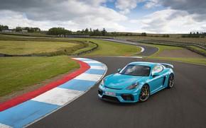 Picture Grass, Porsche, Cayman, Track, GT4, 2019, Porsche 718 (982) Cayman GT4