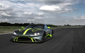 Picture Aston Martin, Vantage, racing car, front view, GT3, 2018