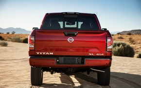 Picture Nissan, pickup, 4x4, feed, Titan, 2020, V8, Titan SL