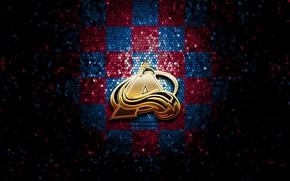 Picture wallpaper, sport, logo, NHL, hockey, glitter, checkered, Colorado Avalanche