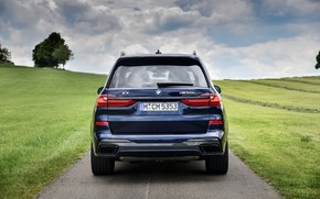 Picture BMW, rear view, crossover, SUV, 2020, BMW X7, M50i, X7, G07