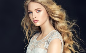 Picture girl, pose, model, makeup, blonde, Beautiful, makeup, Sofia Zhuravets'