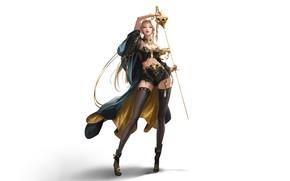Picture Girl, Minimalism, Blonde, Style, Girl, Background, Art, Art, Style, Blonde, Background, Minimalism, Blade, Sword, Blade, …
