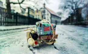 Picture winter, the city, street, gifts