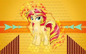 Picture yellow, background, cartoon, pony, My Little Pony