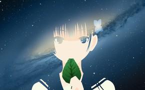 Picture girl, space, sheet, Sankarea