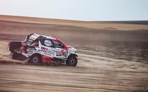 Picture Sand, Auto, Sport, Machine, Race, Toyota, Hilux, Rally, Dakar, Dakar, SUV, Rally, Sport, Toyota, Hilux, …