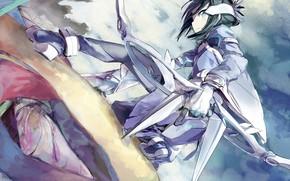 Picture girl, armor, Yuu want yuu felt the yuu sure de Arun