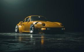 Picture Auto, Yellow, Porsche, Machine, Background, Car, Render, Porsche 911, Rendering, Concept Art, Yellow, Khyzyl Saleem, …