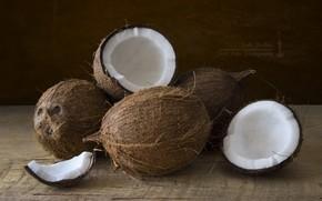 Picture macro, coconut, walnut