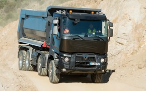Picture Renault, body, quarry, dump truck, four-axle, Renault Trucks, K-series