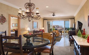 Picture interior, living room, dining room, Los Cabos, Villa La Estancia