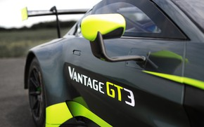 Picture Aston Martin, Vantage, racing car, side view, GT3, 2018